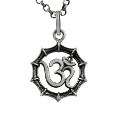 Stunning Rich Sterling Silver Jewellery OM Pendant
