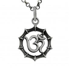 Stunning Rich Sterling Silver Jewellery OM Pendant