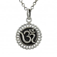 Big Natural Top ! Sterling Silver Jewellery OM Pendant