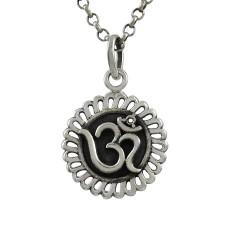 Graceful ! Sterling Silver Jewellery OM Pendant