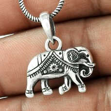 Lovely ! Sterling Silver Jewellery Elephant Charm Pendant