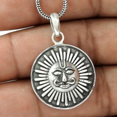 Pleasing ! Sterling Silver Jewellery Sun Pendant