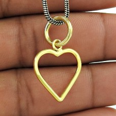 Gold Plated 925 Sterling Silver Jewellery Heart Pendant