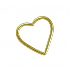 Gold Plated 925 Sterling Silver Jewellery Heart Shape Pendant Wholesale
