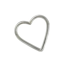 Natural Beauty 925 Sterling Silver Jewellery Heart Pendant