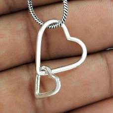 New Style Handmade 925 Sterling Silver Heart Pendant