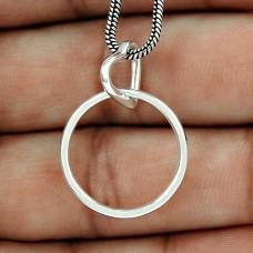 Party Wear 925 Sterling Silver Jewellery Heart Charm Pendant