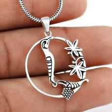 Stylish Handmade 925 Sterling Silver Bird Pendant