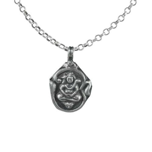 Beautiful 925 Sterling Silver Shiva Pendant Handmade Jewellery