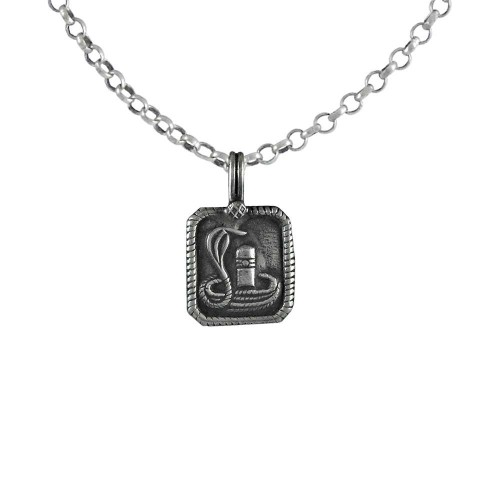 925 Sterling Silver Shivling Pendant Handmade Jewellery Wholesaler India