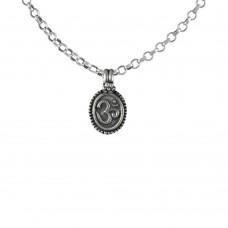 Large Fashion 925 Sterling Silver OM Pendant Handmade Jewellery