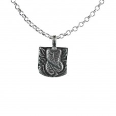 925 Sterling Silver Leaf Ganesha Pendant Handmade Jewellery