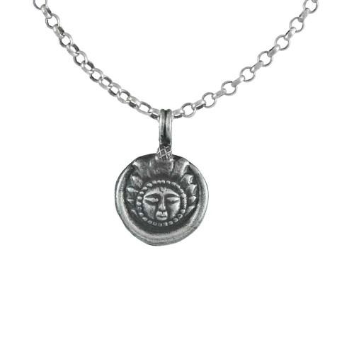 Oxidised 925 Sterling Silver Sun Pendant Handmade Jewellery Großhändler