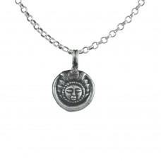 Scenic 925 Sterling Silver Sun Pendant Handmade Jewellery