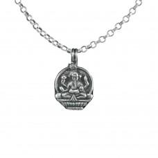 925 Sterling Silver Lord Ganesha Pendant Handmade Jewellery