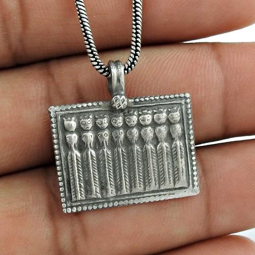 Handmade Unique Design 925 Sterling Silver Pendant Jewellery