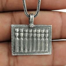Oxidised 925 Sterling Silver Handmade Pendant Jewellery