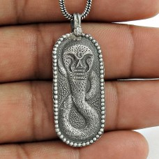 Ivy Hot 925 Sterling Silver Snake Pendant Handmade Jewellery