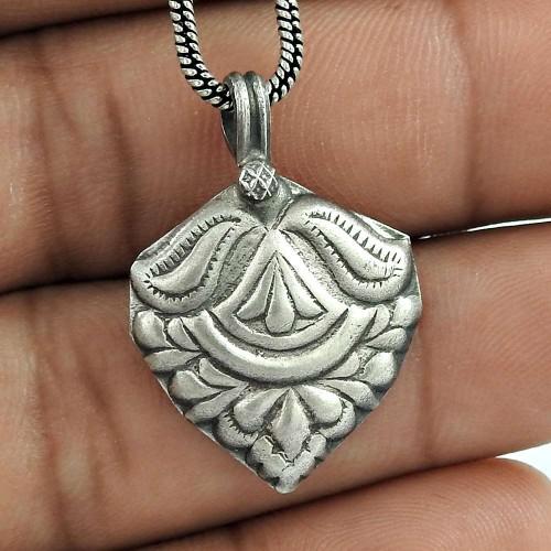 Beautiful Oxidised 925 Sterling Silver Handmade Pendant Jewellery