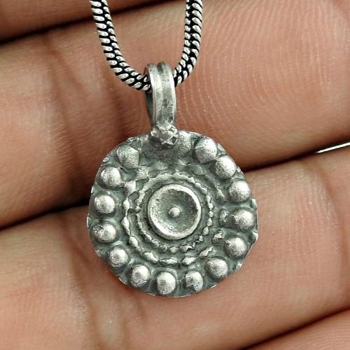 Oxidised 925 Sterling Silver Designer Pendant Handmade Jewellery Exporter India