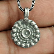 Graceful 925 Sterling Silver Pendant Handmade Jewellery