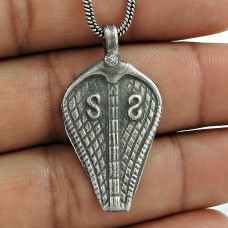 Antique 925 Sterling Silver Snake Pendant Handmade Jewellery Al por mayor