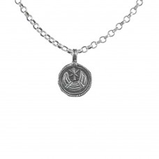 Oxidised Moon Pendant! 925 Sterling Silver Handmade Jewellery Proveedor