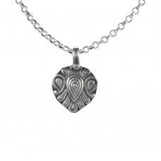 Beautiful Design 925 Sterling Silver Oxidised Pendant Handmade Jewellery