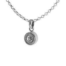 Cute 925 Sterling Silver Sun Pendant Handmade Jewellery