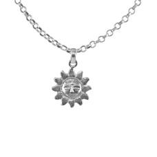 Big Natural 925 Sterling Silver Sun Pendant Handmade Jewellery