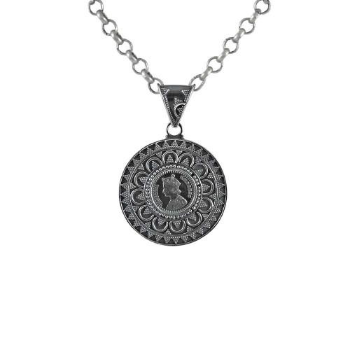 Oxidised Handmade 925 Sterling Silver Pendant Jewellery