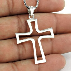 High Quality 925 Sterling Silver Cross Pendant