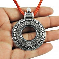 925 Sterling Silver Oxidised Jewellery Traditional Silver Handmade Pendant Supplier