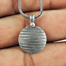 925 Oxidised Sterling Silver Jewellery Fashion Silver Handmade Pendant