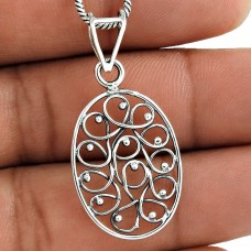 Breathtaking Gold Plating Solid 925 Sterling Silver Pendant
