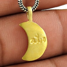 Solid Gold Plating Solid 925 Sterling Silver Pendant