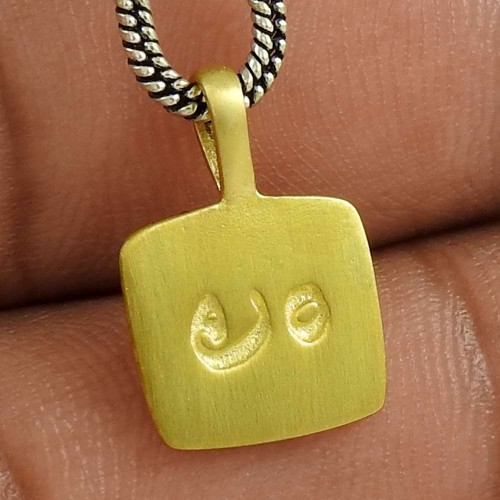Stunning Rich Gold Plating Solid 925 Sterling Silver Pendant