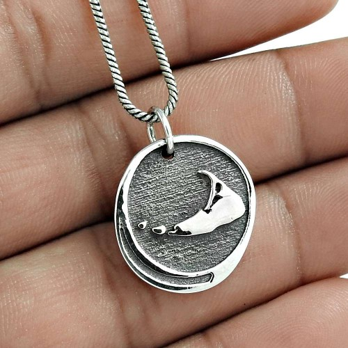 Fashion 925 Sterling Silver Pendant Antique Jewelry Supplier India
