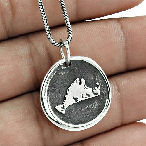 Graceful 925 Sterling Silver Pendant Jewelry