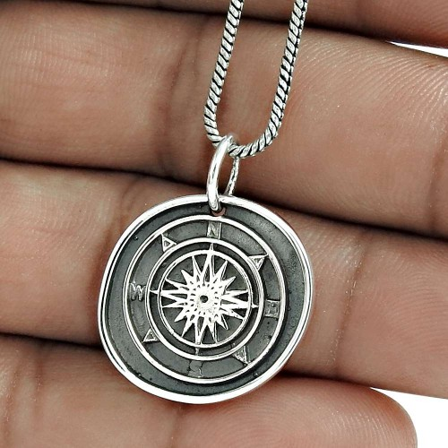 Good-Looking 925 Sterling Silver Pendant Antique Jewelry