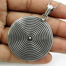 Oxidized 925 Sterling Silver Pendant Tribal Jewelry L15