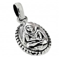 925 Sterling Silver Jewellery Charming 925 Sterling Silver Lord Shiva Pendant Exporter India