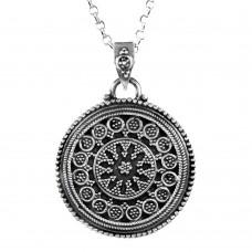 Classy Design!! 925 Sterling Silver Pendant