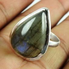925 Silver Jewellery Beautiful Labradorite Gemstone Ring