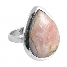 925 Silver Jewellery Beautiful Rhodochrosite Gemstone Ring Wholesale