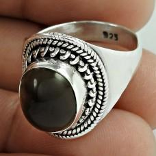 Clinquant!! 925 Sterling Silver Smoky Quartz Ring Manufacturer