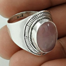 Dream Day!! 925 Sterling Silver Rose Quartz Ring