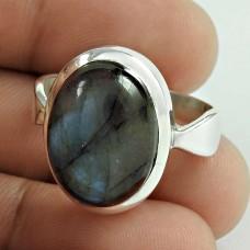 925 Sterling Silver Antique Jewellery Designer Labradorite Gemstone Ring Exporter