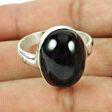 Indian Sterling Silver Jewellery Ethnic Black Star Gemstone Ring Fournisseur