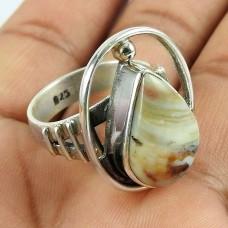 Indian Silver Jewellery Ethnic Cryzylace Agate Gemstone Ring Wholesaling
